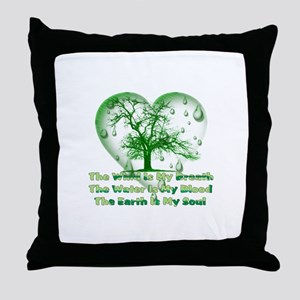 Earth Connection Throw Pillow