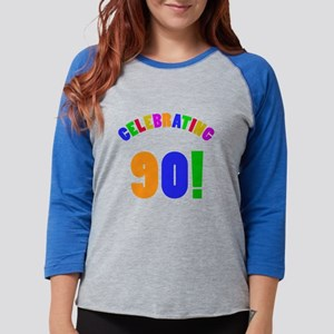 Rainbow 90th Birthday Party Long Sleeve T-Shirt