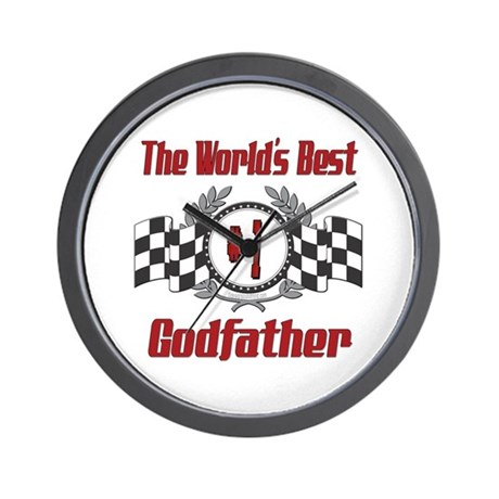 Racing Godfather Wall Clock By Outofmind