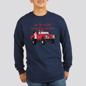 No Free Rides Lifted 4X4 Long Sleeve Dark T-Shirt