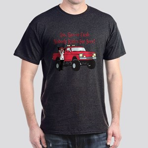 No Free Rides Lifted 4X4 Dark T-Shirt