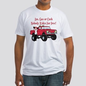 No Free Rides Lifted 4X4 Fitted T-Shirt