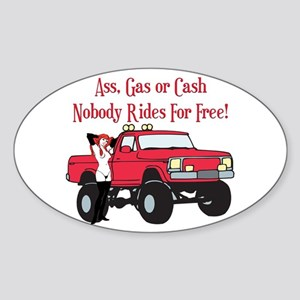 No Free Rides Lifted 4X4 Oval Sticker