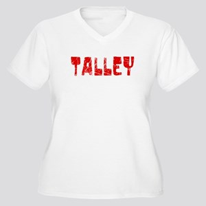 Talley Faded (Red) Women's Plus Size V-Neck T-Shir