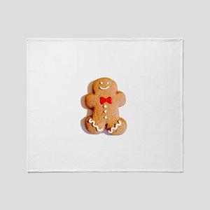 Gingerbread Cookie 4Mike Throw Blanket