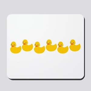 Duckies In A Row Mousepad