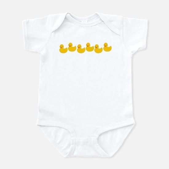 Duckies In A Row Infant Bodysuit