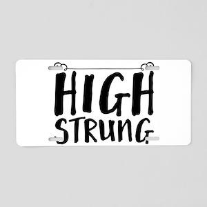 high strung Aluminum License Plate