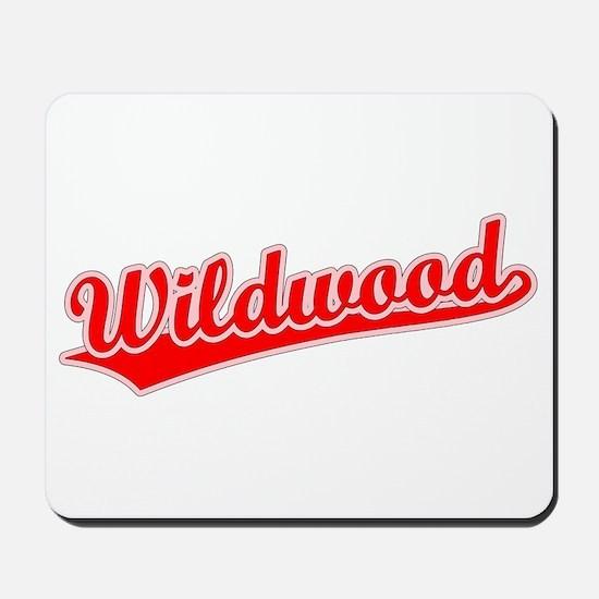 Retro Wildwood (Red) Mousepad