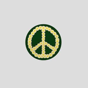 Peace Daisy Chain Mini Button
