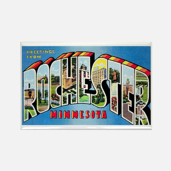 Rochester Minnesota Greetings Rectangle Magnet