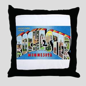 Rochester Minnesota Greetings Throw Pillow