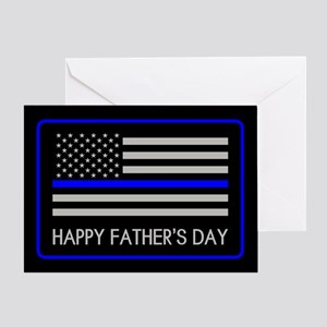 Police: Father's Day (Thin Blue Line Greeting Card