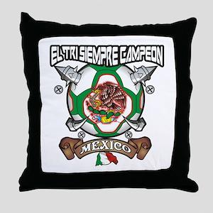 El tri siempre campeon Throw Pillow