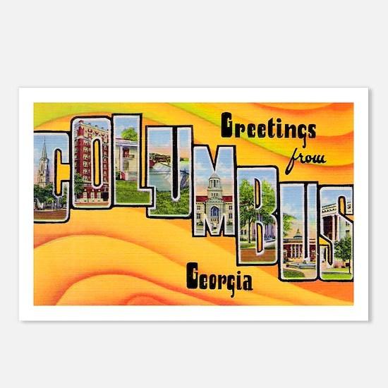 Columbus Georgia Greetings Postcards (Package of 8