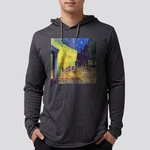 cafe terrace at night Long Sleeve T-Shirt