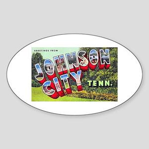 Johnson City Tennessee Oval Sticker