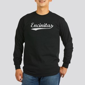 Vintage Encinitas (Silver) Long Sleeve Dark T-Shir
