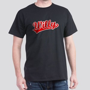 Retro Willy (Red) Dark T-Shirt