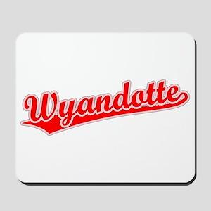 Retro Wyandotte (Red) Mousepad