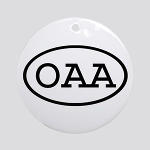 OAA Oval Ornament (Round)