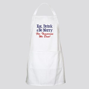 Eat Drink And Be Merry Diet Light Apron