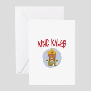 King Kaleb Greeting Card
