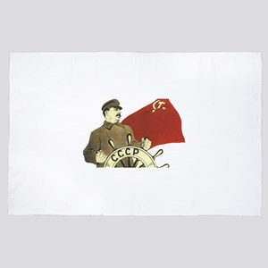 communist soviet propaganda Stalin 4' x 6' Rug