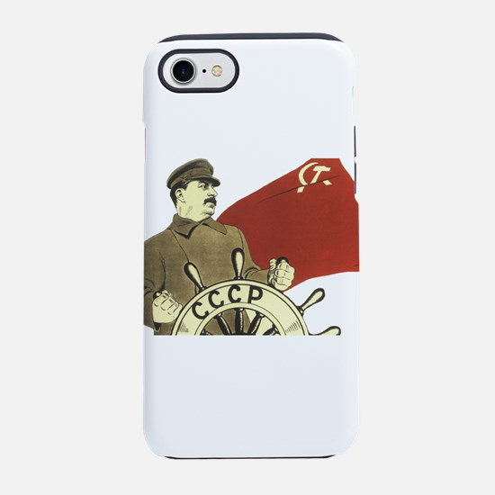 communist soviet propaganda iPhone 8/7 Tough Case
