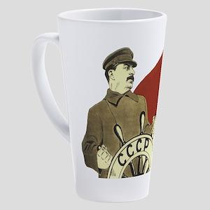 communist soviet propaganda Stalin 17 oz Latte Mug
