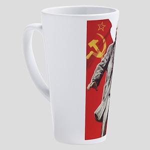 Lenin soviet union propaganda 17 oz Latte Mug