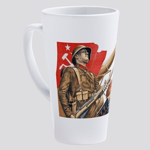 WWii soviet union propaganda 17 oz Latte Mug