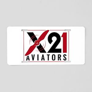 X21 Aviators Logo Aluminum License Plate
