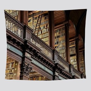 Classic Literary Library Books Wall Tapestry