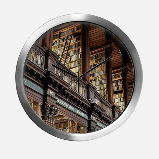 Classic Literary Library Books Modern Wall Clock