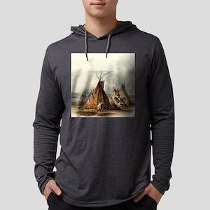 Assiniboin Native Skin Lodge Long Sleeve T-Shirt