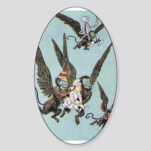 Flying Color Oval Sticker