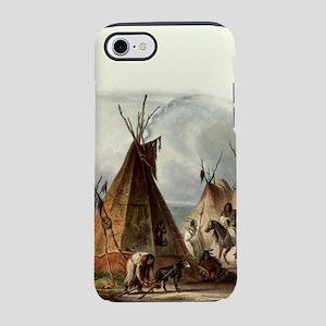 Assiniboin teepee Native Ski iPhone 8/7 Tough Case