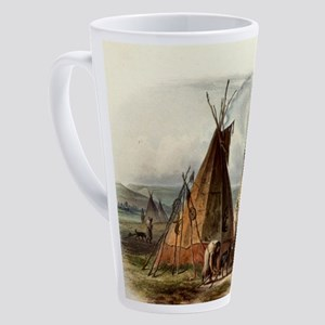 Assiniboin teepee Native Skin Lodg 17 oz Latte Mug