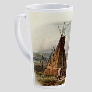 Assiniboin teepee Native Skin Lodg 17 oz Latte Mug