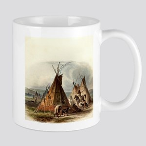 Assiniboin teepee Native Skin Lodge Mugs
