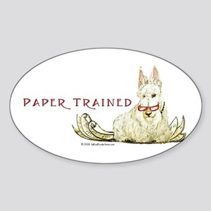 Scottie Paper Trained Sticker (Oval)