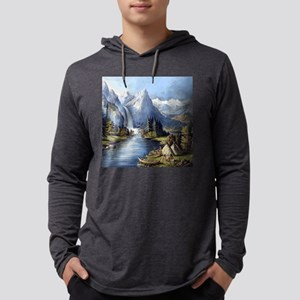 vintage native american landsc Long Sleeve T-Shirt