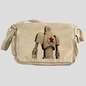 Robot soviet space propaganda Messenger Bag
