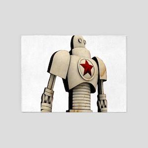 Robot soviet space propaganda 5'x7'Area Rug