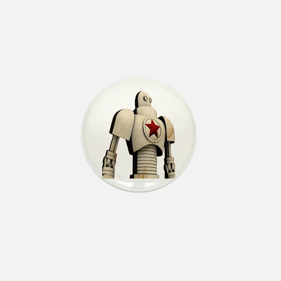 Robot soviet space propagand Mini Button (10 pack)
