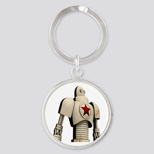 Robot soviet space propaganda Keychains