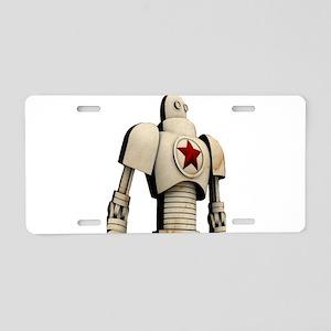 Robot soviet space propagan Aluminum License Plate