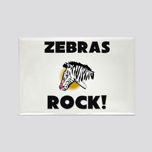 Zebras Rock! Rectangle Magnet