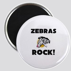 Zebras Rock! Magnet